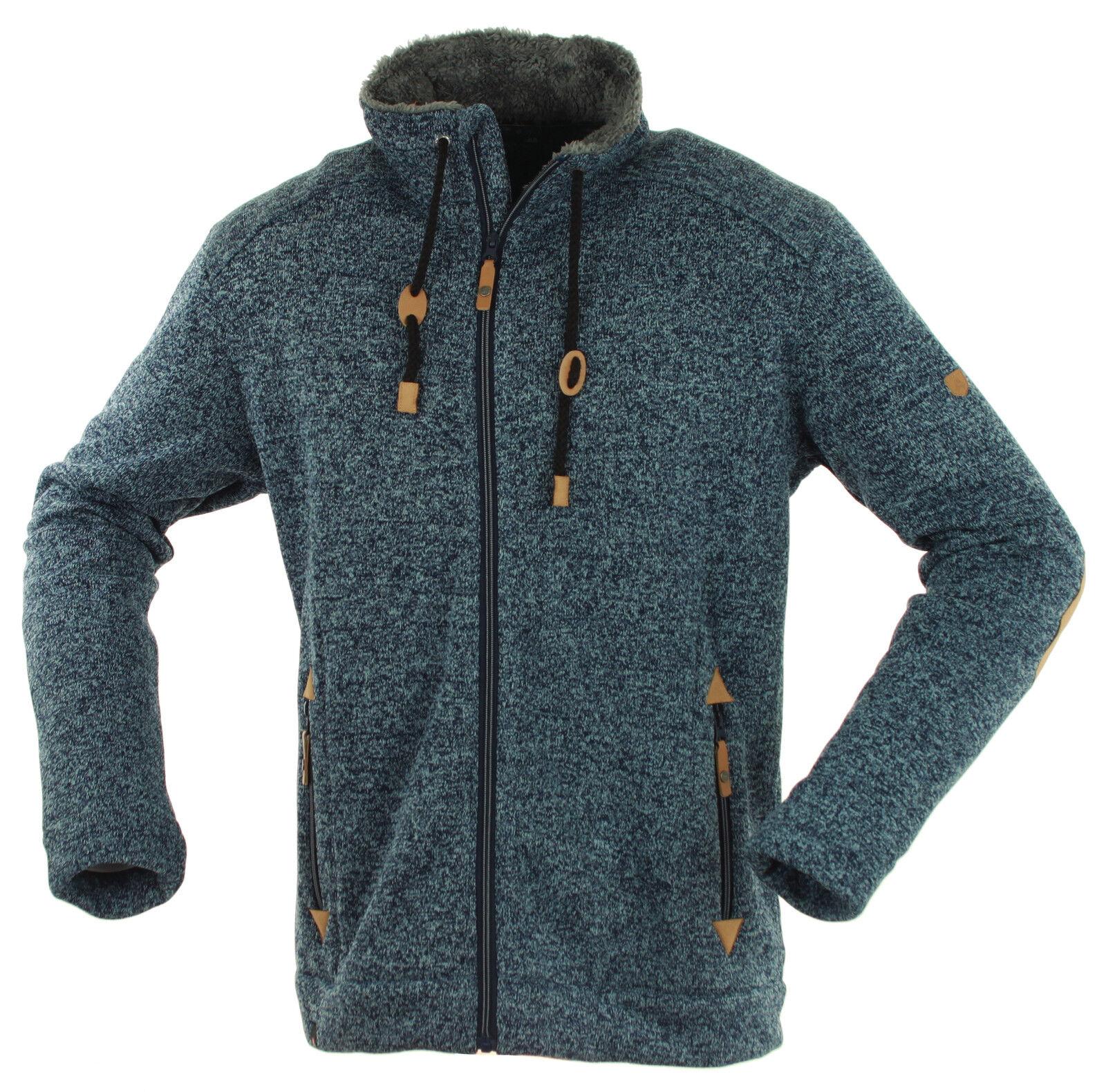 Maul Lichtenau Herren Polar-Strickfleece-Jacke Fleece super warm atmungsaktiv