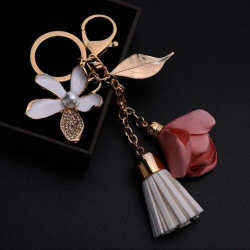 Voiture Creative Bijoux Cristal Chaîne Mignon Sac Porte-clés fleur porte-clés key chain