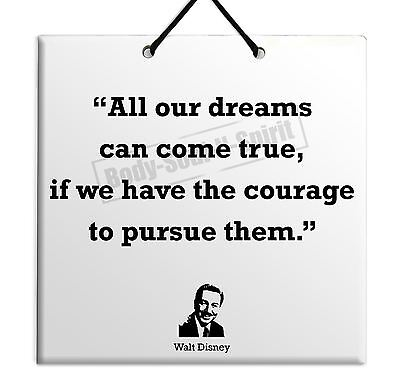 Walt Disney Gift Sign Quote Ceramic Wall Hanging Plaque TILE Home Decor