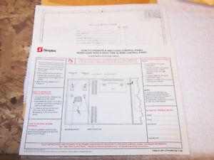 Excellent Simplex 4003 Field Wiring Diagram 841 921 Ebay Wiring 101 Mecadwellnesstrialsorg