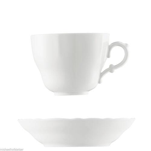 NEU 6x Hutschenreuther Maria Theresia Weiss Milchkaffee Café au Lait Tasse 2tlg