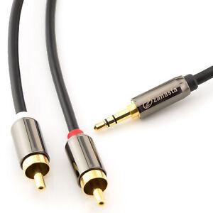 5m audio kabel 3 5 mm klinke auf 2x cinch rca chinch zu. Black Bedroom Furniture Sets. Home Design Ideas