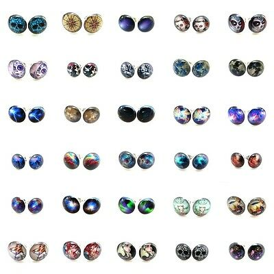 20g 0.8mm Top 30 Items #1 Arcylic Face Silver Steel Ear Plugs Fake Earrings Stud