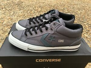 Details about READ Converse Cons Star Player Pro Mid Men's 8 Admiral Gray Canvas Skate 144611C