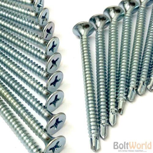 3.9 X 65mm Zinc Auto perforación de cartón-yeso Tornillos de particiones de Madera Metal