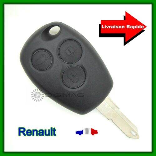 Coque Télécommande Plip Clé Renault 3 Boutons Logan Sandero Duster Clé vierge