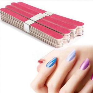 Pro-Nail-Art-Sanding-Files-UV-Gel-Polish-Acrylic-Block-Buffer-Manicure-10pcs-Set