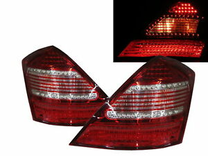 S-CLASS W221 MK5 2006-2009 4D LED Tail Rear Light Red/White for Mercedes-Benz