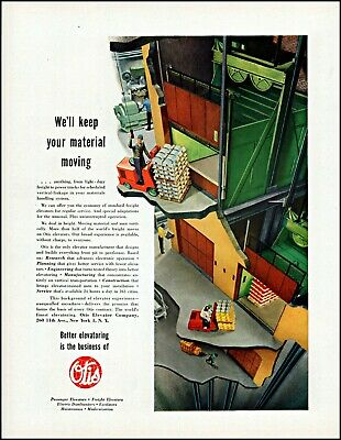 Collectibles Devoted 1952 Otis Elevator Factory Plant Forklift Freight Vintage Photo Print Ad Adl79