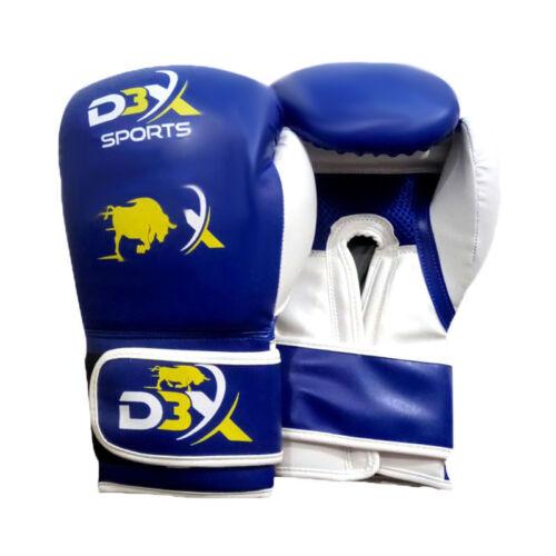 BOXING GLOVES BLUE SPARRING TRAINING 8 10 12 14 16 oz MMA UFC MUAY THAI