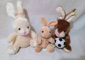 Three-plush-Easter-Bunnies-Rabbits-2013-Dan-Dee-collectors-Basket-stuffers