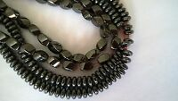 "Hematite beads,16""strand,non magnetic,black"