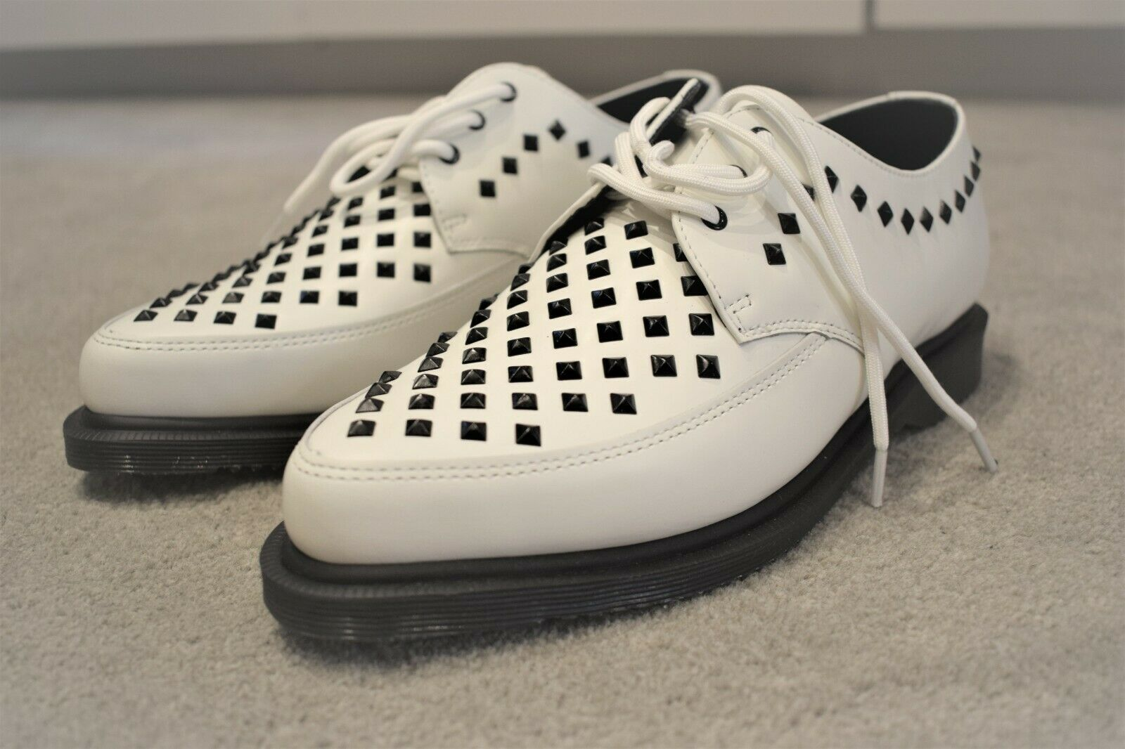 Dr. Martens UNISEX Willis shoes UK 11 White Rousden Creepers Lace Up Leather