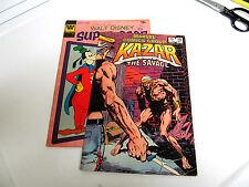 LOT 2 * WHITMAN  * WALT DISNEY SUPER GOOF * 1972 # 22. V/G. KAZAR 1982 # 19 V/G+