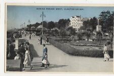 Marine Parade West Clacton On Sea 1967 Postcard 240a
