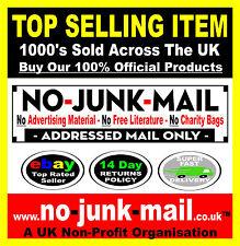 No Junk Mail Sign, No Advertising Material, No Free Literature, No Charity Bags