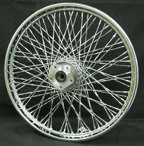 Chrome-80-Twisted-Spoke-21-034-x-2-15-034-Front-Wheel-for-Harley-Softail-FXDWG-84-039-99-039