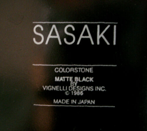 Colorstone Matte Black by Sasaki DINNER PLATE 10 5//8/""