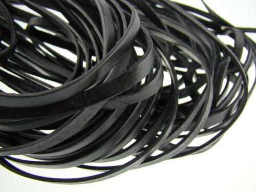 Länge//Farbe: wählbar Lederriemen Lederband ab 1,6€//m Flach 5 x 1,5 mm