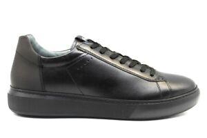 Scarpe-da-uomo-Nero-Giardini-A901291U-sportive-casual-basse-in-pelle-invernali