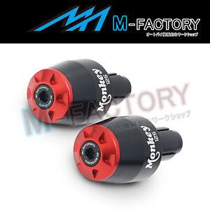 Red-STORM-Bar-End-Sliders-Pair-MONKEY125-Logo-For-Honda-MONKEY-125-2018-2019