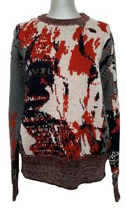 CERRUTI-1881-MEN-039-S-REVERSIBLE-PRINTED-WOOL-SWEATER-L-1050