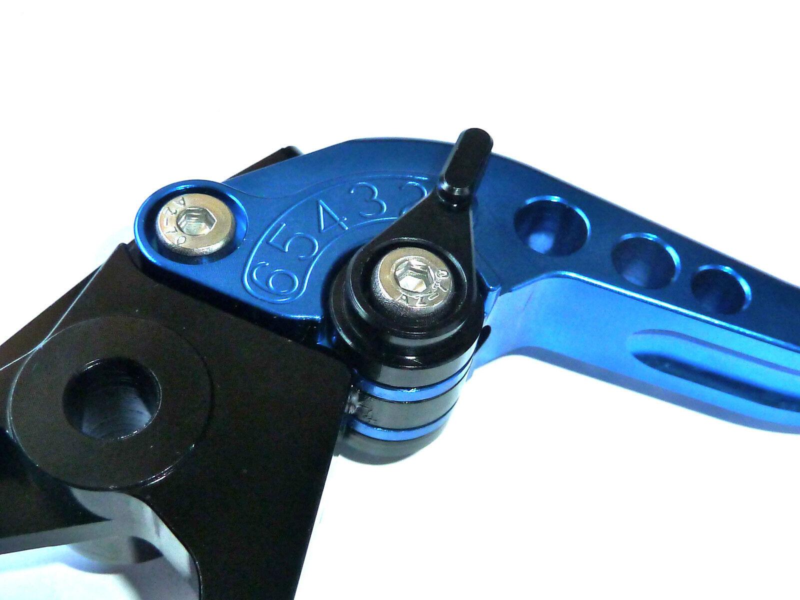 Suzuki Gsx650f 2008-2015 Lang Blau Bremse und Kupplungshebel Satz       Neuartiges Design  78d7d3