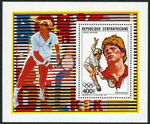 Central Africa 884,884 S/s, MI 1310,Bl.434,MNH.Boris Becker,Tennis Champion,1988