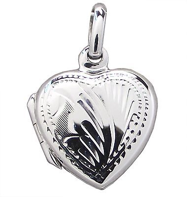 Family LOCKET HEART with Pattern 925 Sterling SILVER 22mm Drop : Ladies Pendant