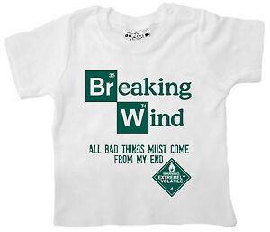 Quot Breaking Wind Bad Quot Funny Baby T Shirt Tee Boy Girl