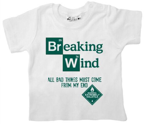 "Funny Baby T-Shirt /""Breaking Wind Bad/"" Heisenberg Tee Boy Girl Clothes"