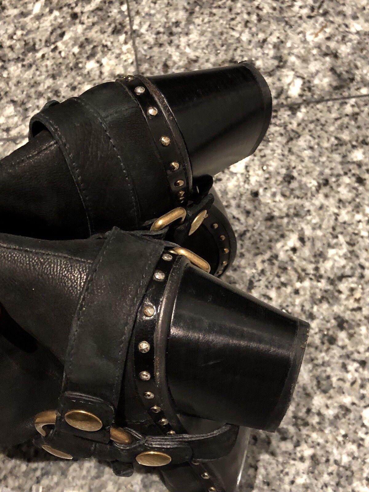 Miu miu by PRADA Negro Negro Negro Tachonado botas De Vaquero c79569