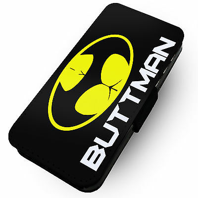 Buttman Parody - Printed Faux Leather Flip Phone Cover Case