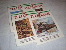 LGB TELEGRAM MAGAZINE SET 1996 VOLUME 7 NUMBERS 1 2 3 & 4 BRAND NEW CONDITION!