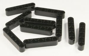 LEGO-Technik-10-x-Liftarm-dick-1x5-schwarz-Black-Liftarm-32316-NEUWARE
