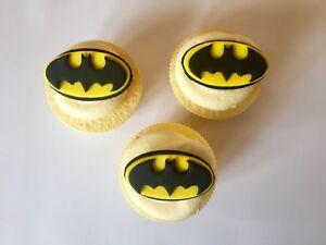 Fantastic 6 Edible Sugarpaste Batman Birthday Cake Cupcake Toppers Funny Birthday Cards Online Bapapcheapnameinfo