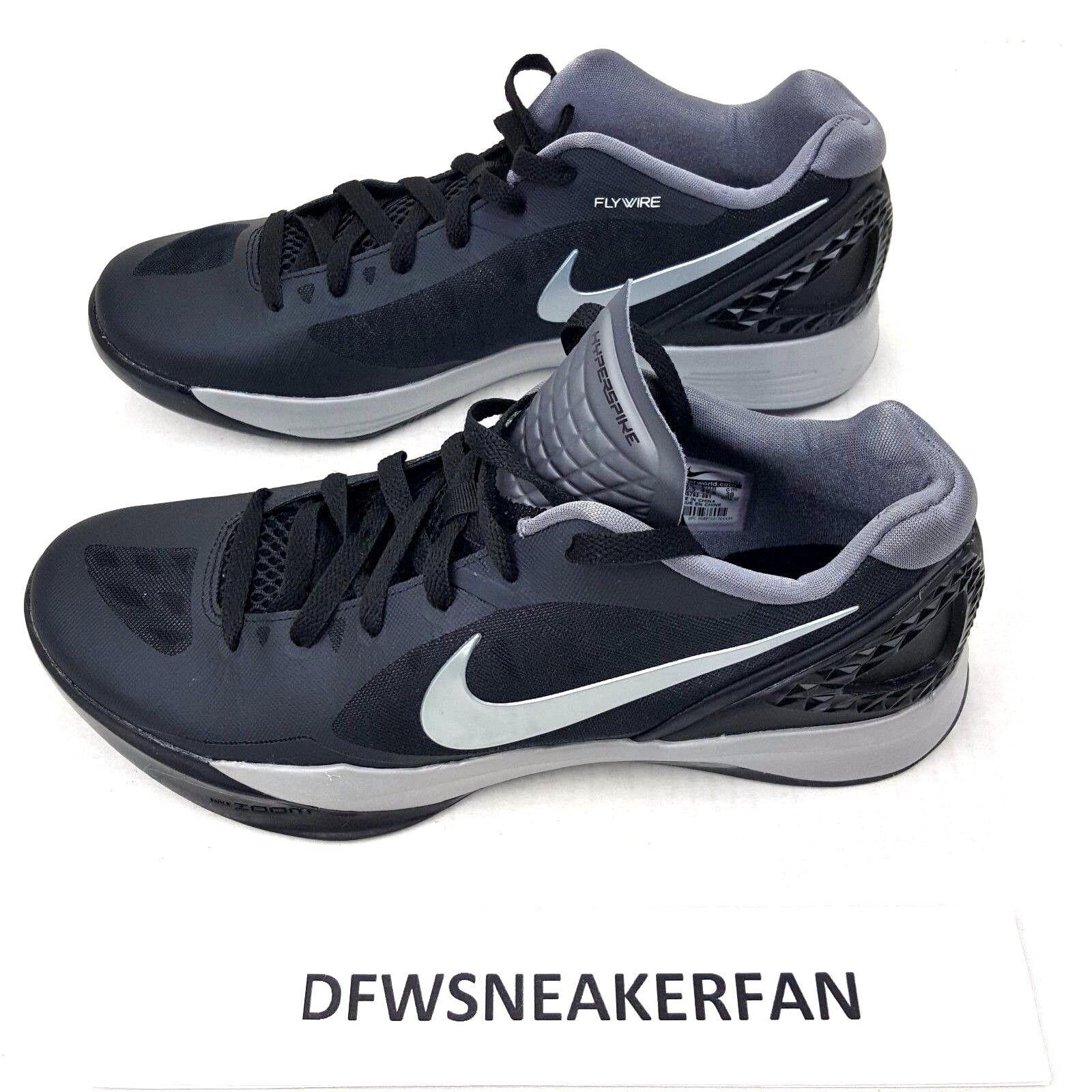 Nike Volley Zoom Hyperspike Volleyball Shoe Women SZ 10.5 Black Gray 585763-001