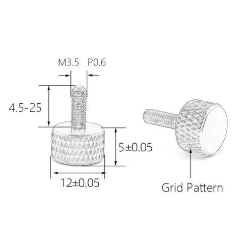 4pcs Aluminum M3.5 Thumb Screws Computer Case Colourful Screw Length 4.5-25mm