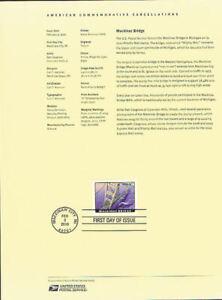 1003-4-90-Mackinac-Bridge-Stamp-4438-Souvenir-Page