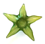 Star-Shaped-Bowl-Foiled-Lime-Green-Beach-Home-Decor-11-inches-Across thumbnail 4