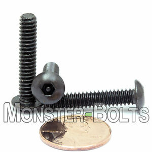 """#10-24 x 1"""" - QTY 10 - SECURITY SCREWS Button Head Pin In Socket / Hex Bolts"""
