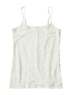 NWT$29.99 Ivory Lace Overlay Camisole Tank Ann Taylor LOFT Outlet Women/'s S