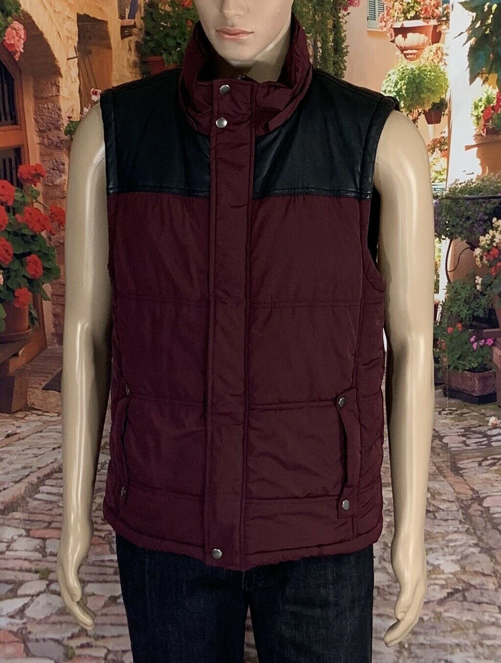 Guess Größe L Jacket Mens Large Plain Puff Winter Vest