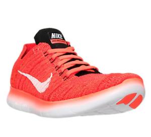 Nike Free RN Flyknit Men's Bright Crimson Orange SZ Running Shoe 831069 601 SZ Orange 11.5 ef37db