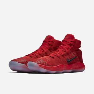 1a205d17240 Nike Hyperdunk 2017 Flyknit Mens Size 13 Red Basketball Shoes 917726 ...