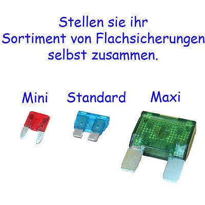 Blattsicherungen Streifensicherungen verschiedene Mengen und Stromstärken