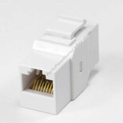 100 X RJ45 CAT5 Female CAT5E Network Ethernet Connector Adapter Joiner Coupler 6