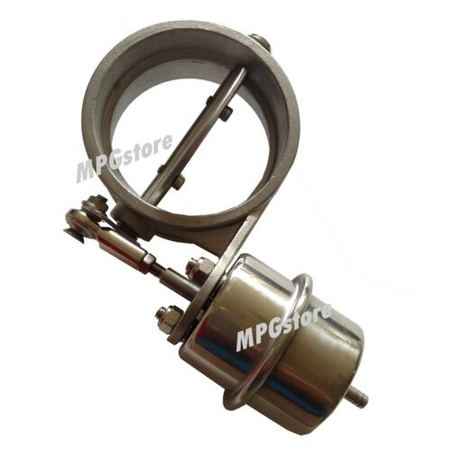 """Weldable 304 SS Exhaust Control Valve with Vacuum Actuator for 3/"""" 76mm Pipe Open"""