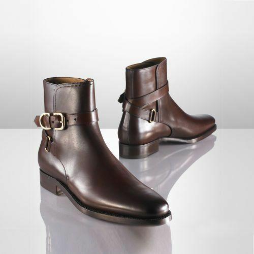 botas para hombre Hecho a Mano Marrón Cuero Jodhpur tobillo ropa formal Genuino Informal Zapato