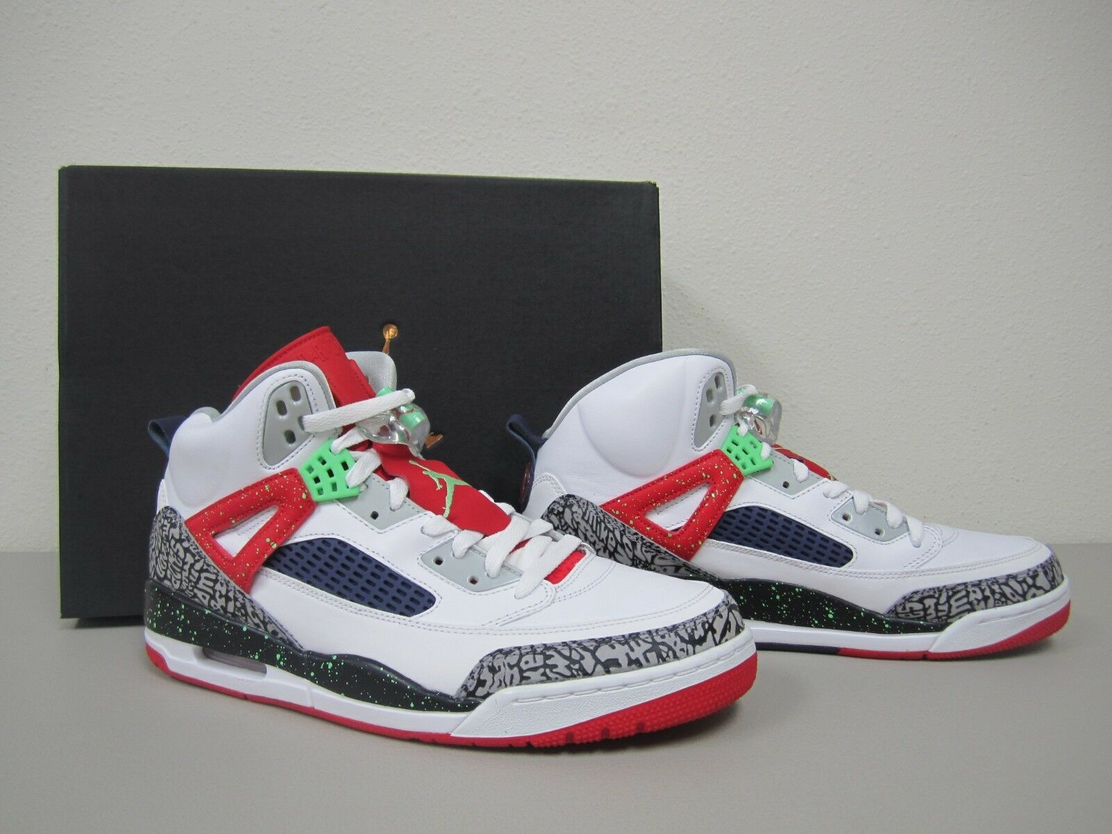 Nike air jordan spizike white poison green university red jpg 1600x1200 Jordan  spizike white 452248522